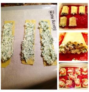 Spinach Lasagna Rolls Ups